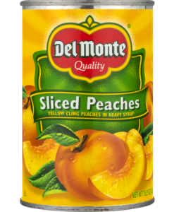 Del Monte Yellow Cling Peaches Sliced, 15.25 Oz: